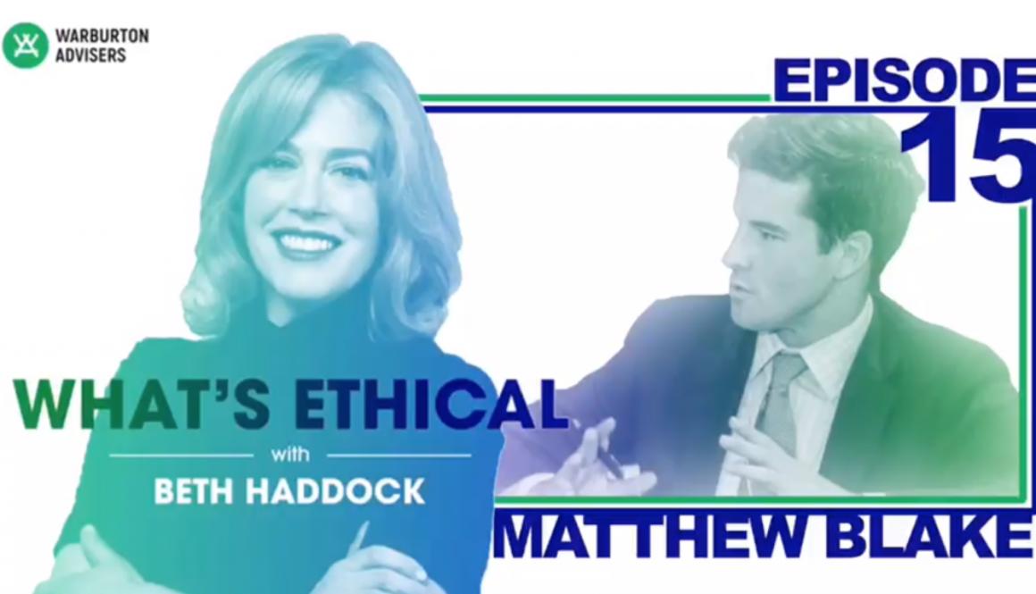 Whats Ethical Beth Haddock Matthew Blake